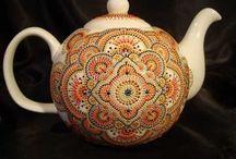 Hand painted ceramic n glass / by Tara Matangi