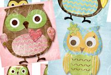Owl die cuts and templates