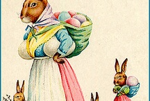 Inspiration: Easter / A beautiful collection of vintage Easter greetings.