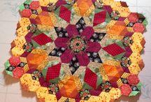 ruční patchwork hexagon
