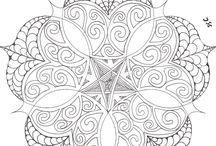 Coloring pages = stress relief