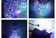 Glass and Crystal decanters and Lamps / We make beautiful lamps with led lights
