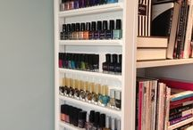 Room decor / Nail polish shelves