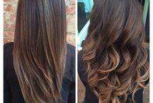 balayage hair liso