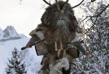 Mythological horned man