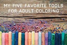 COLORING FOR GROWN UPS! / by Elisa E