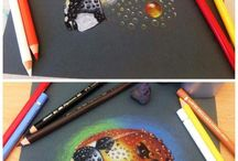 Black paper drawing