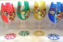 Hand painted Rooster Wine Glasses, Rooster Glassware / Clearly Susan's Hand painted rooster designs have been a favorite for  generations and these hand painted rooster glasses, Rooster glassware are rich in detail.  http://www.clearlysusan.com/Colorful-Hand-painted-Rooster-Crystal-Wine-Decanter_p_223.html