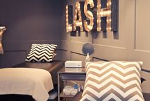 Lash salon decor