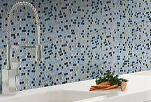 Galaxy Collection / The Galaxy line of glass mosaic tiles is perfect for kitchen backsplashes, bathrooms, pools, indoor walls, and a variety of other residential and commercial architectural applications