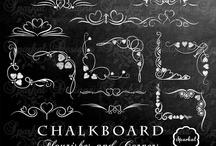 Chalkboard cakes & letters