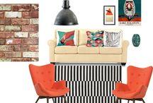 Living room moodboards