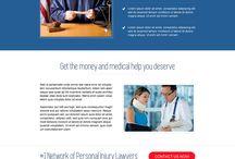 personal injury landing page design