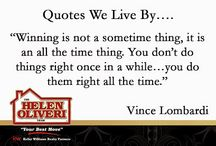 Quotes We Live By / Our favorite quotes and inspirational messages