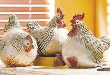 keramik  høns