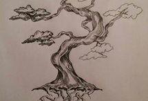 Tattoo Tree Sketch