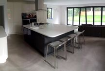 Domestic Polished Concrete Flooring / Inspirational concrete flooring for your home - whether you are looking for a modern or rustic interior.