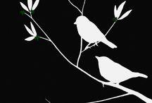 bird silouetes