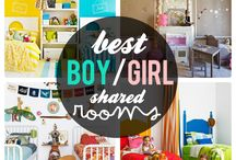 Shared Bedroom Ideas / Girl and boy shared room