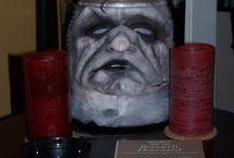 cabeça em vidro