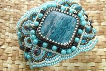 Beaded bracelets, geborduurde kralen cuff