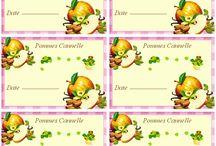 etiquettes pommes cannelle