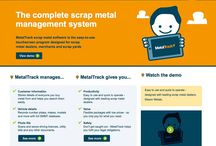 MetalTrack / Scrap metal dealers up and down the UK use our online MetalTrack software to stay on the right side of the law. We designed the brand to stand out from the usual crowd – and it certainly got lots of attention! www.metaltrack.co.uk
