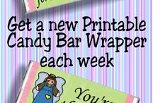 2017 Weekly Candy Bar Wrapper Membership Club
