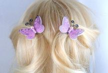 PINCES CHEVEUX / pinces pour cheveux, papillons, libellules, fleurs