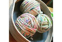 clothesline baskets / by Alice Medley