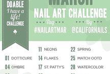 MARCH Nail Art Challenge #nailartmar / Challenge made my @CaliforNails https://www.facebook.com/CaliforNAILS