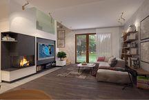 Wnętrza domów - Salon / Inspiracje dla wyposażenia salonu w domach i mieszkaniach
