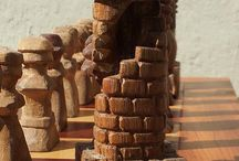 Chess boards and sets / Some of my hand made chess sets