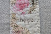 Little lace embroidered brochure