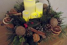 Christmas decorations / Christmas table centers