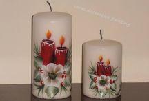 Kerzen bemalen