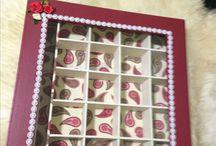 Caixas artesanato / Caixas de chá, bijou e outras invenções