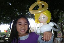 Balloon Twisting Riverside / Here is a compilation of awesome balloon characters, balloon animals, balloon props and more made by our balloon twisters and balloon artists based in Riverside, San Bernardino, La Verne and more! 888-750-7024