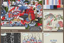 AUTUMN / FALL SCRAPBOOK KITS / Autumn / Fall  themed digital Scrapbook Kits