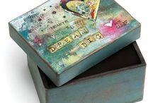 Trinket boxes tissue boxes