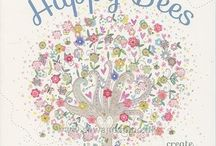 Kim Anderson / Kim Anderson is a talented author and artist that we adore. Here you will find little sneak peeks from her new book, Doodle Trees and Happy Bees, and her cross-stitch kits done in collaboration with Bothy Threads.