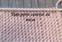 tricot point canevas