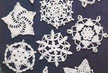 Natal - Floco de neve em Croche