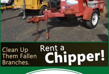 Chippers / Call: 570-366-1071 for Prices & Details! Email: Info@arkrentals.com