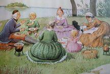 Tante Grøn , Tante brun og Tante Lilla