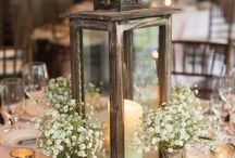 Table decorations / Beautiful ideas for your wedding breakfast tables