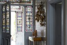 hallway stain glass