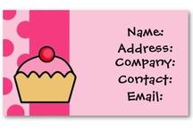 Cupcake Business Cards / mod trendy cupcake business cards , cupcake visiting cards #cupcakes