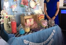 Amelias Christening Day Candy Buffet