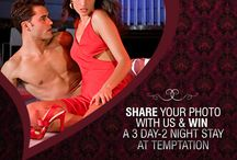 TEMPTATION IN THE AIR CONTEST / Win a romantic getaway to Temptation Resort for 2 with our special contest! Share a tempting photo with your couple using the hashtag #TemptationInTheAir, so that you can come with your partner and celebrate your romance at Temptation, just need to follow the rules posted in each picture!